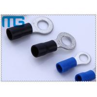 Cheap Corrosion Resistance Blue / Black Copper Ring Terminals A.W.G. 14 - 12  / 16-14 for sale