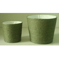 Paper Rope Wrapped Basket with Soft Liner