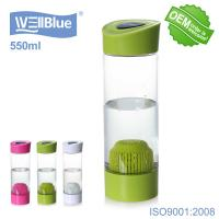 Buy cheap Green Color Portable Small Alkaline Water Bottle 550ml For Water Filtration from wholesalers