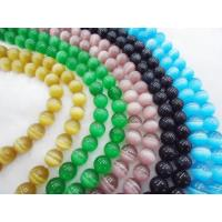 Best Beaded Handmade Jewellery Colorful Cat Eye Bead, 10mm Semi Precious Stone Beads wholesale