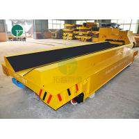Best 20-100 Ton Steel Pipe Motorized Load Railway Transport Cast Iron Rail Truck Cart With V Deck wholesale