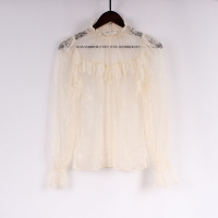China Fashionable 100 Nylon Lace Women Blouse on sale
