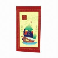 Buy cheap Red Packet with Die-cut Closure and High-quality Art Paper from wholesalers