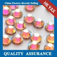 Best 3.3-3.5mm crystal glass hotfix stones,stones hotfix from ss6-ss40,shiny crystal dmc hotfix stones wholesale