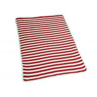 Best Environmentally Friendly Polyester Baby Blanket Red Stripe 48*48 Weight wholesale