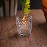 Best Recycled High White Glass Tealight Candle Holders For Wedding Decoration wholesale
