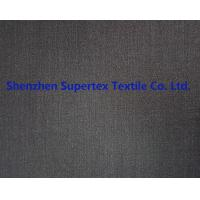 Best Men'S Clothing Fabric Stretch Polyester Wool Twill Fabric Lycra In Charcoal Melange Grey Color wholesale