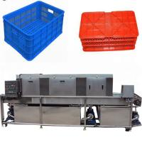 Best Electric Vegetable Basket Washing Machine , Automatic Plastic Tray Cleaning Machine wholesale