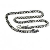 Best Mens Retro Vintage Dragon Sterling Silver Chain Necklace 24 inches (041558) wholesale