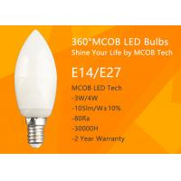 Best MCOB 4W Dimmable C35 E14 LED Bulbs, 40W Incandescent Bulbs Equivalent, Candelabra Bulbs, 440lm, 180° Beam Angle, Warm Wh wholesale