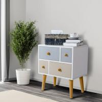 China Lifewit Side End Table Nightstand Bedroom Living Room Table Cabinet with 4 Drawers on sale