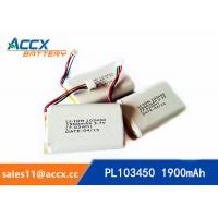 Best PL103450 1900mAh 3.7V lithium battery with PCM wholesale