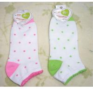 Best Customize Knitted Cotton + Spandex + Nylon Jacquard Girl's Short Ankle Socks For Summer wholesale