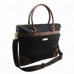 Best Black Twill Promotional Laptop/Computer/Messenger Bag, Measures 39 x 8.5 x 32cm wholesale