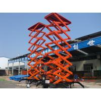 Best High quality14m Height Mobile Hydraulic Shear Fork Lift Scissor Work Lift Table wholesale