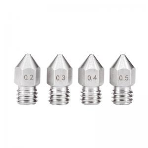 Best 0.3mm 0.6mm 1.2mm MK8 Stainless Steel Nozzle 3D Printer GT2 pitch wholesale