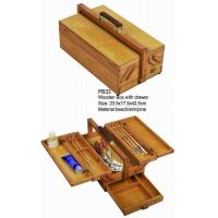 Best Commecial Artist Storage Box With Drawer , Wooden Craft Storage Box For Paintings wholesale