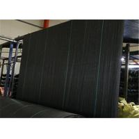 Best PP Geotextile Landscape Fabric , Black Color Weed Barrier Mat With UV Treatment wholesale