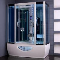 Buy cheap Tempered Glass Rectangular Shower Enclosure Steam Tub Shower Combo With Shower Handle from wholesalers