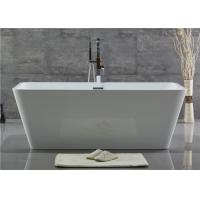 Cheap Customized Acrylic Free Standing Bathtub With Center Position Drainer for sale