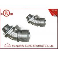 """Cheap 3/4"""" Flexible Conduit Fittings / Insulated Flexible Duct Connector , UL for sale"""