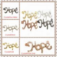 Cheap Colorful Crystal Pave Hope Charms Handmade Jewelry Findings With Personalized for sale