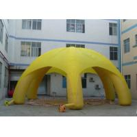 Best Light Weight Outdoor Inflatable Tent Thick Circle Rings To Against Pushing Power wholesale