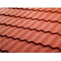 Best Color Stone Coated Steel Roof Tiles , Stone Coated Roofing Sheet Alum - Zinc Steel Sheet Material wholesale