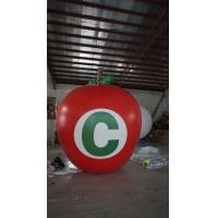 Cheap 3.5m Height Apple Shaped Balloons Pantone Color Matched Printing Large for sale