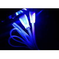 Best Blue Color Night Light Up Micro USB Charging Cable For Android Phones wholesale
