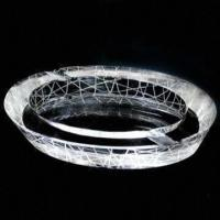 Buy cheap K9 Crystal Ashtray, Available in Various Shapes, Customized Logos are Accepted from wholesalers