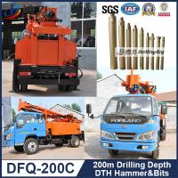 Best DFQ-200C hard rock rigs, 200m down the hole hammer water well rotary drilling machine DTH wholesale