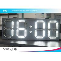Best White And White Led Clock Digital Clocks With Large Display , Long Lifespan wholesale