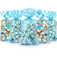 Best Clear OPP Resealable Plastic Bags 0.03mm Thickness For Candy wholesale