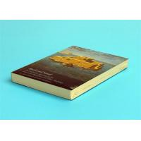 Best A5 Novel Softcover Book Printing Services , Glossy Lamination Single Black Inner Page wholesale