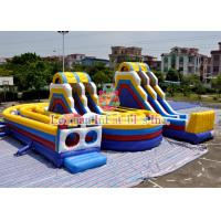 Best LEYUAN Inflatable Obstacle Course / Water Slide Bouncer For Outdoor Activity wholesale