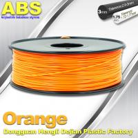 Best Orange  3D Printing Materials 1.75mm ABS 3D Printer Filament In Roll wholesale