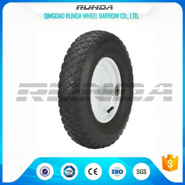 """Cheap Blocky Patterns Pneumatic Rubber Wheels 2PR ,  Hand Trolley Wheels8"""" Steel Rim for sale"""