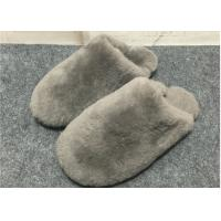 Cheap Cute Fuzzy Bedroom Slippers TPR Sole , Soft Durable Fuzzy Slippers For Adults  for sale