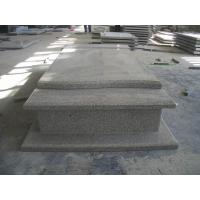 Best Western Style Grey Granite Stone Tombstone Straight Carving Flat Grave Monuments wholesale