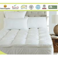 Best Microfiber Baffle Boxes Self-piping Mattress Pad Toppers King Size White or Customized wholesale