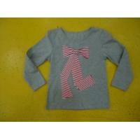 Best Big Bow Chest  Girls Stylish Top Girls Crew Neck T Shirt Top Nice Hand Feel wholesale