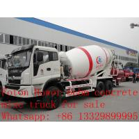 Best 2017s new best price 8m3 FOTON ROWOR 6x4 concrete mixer truck for sale, factory sale good price cement mixer truck wholesale