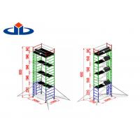 Best Alloy Aluminium Mobile Tower Scaffold Lightweight Scaffold Tower Platform 272kg Load Capacity wholesale