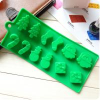 Best Silicone cake mold Christmas tree snowman socks styling chocolate ice mold wholesale