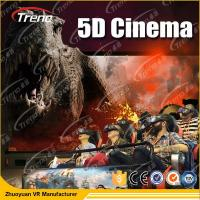 China Electric Motion 5D Movie Theater  8 / 9 / 12 Seats With 6 DOF Hydraulic Platform on sale