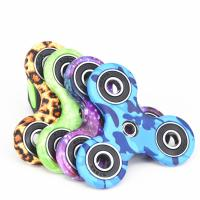 Buy cheap New EDC Tri-Spinner Fidget Spinner Toys Camouflage Pattern Hand Spinner Plastic from wholesalers