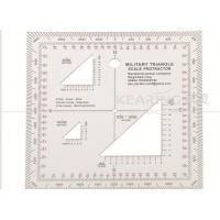 Best Top Rated Military Square Protractor 12.7cm*12.7cm with Triangle Holes wholesale