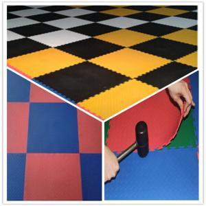 Best 3W Oil Resistance Plastic PVC Click Interlocking Flooring Tiles wholesale