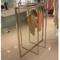 Best Stainless Steel Clothes Display Hanging Rack Metal Clothes Stand With ODM / OEM Service wholesale